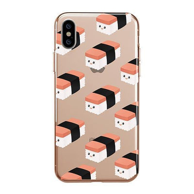 Spam Musubi Clear TPU Case - Clear Cut Silicone iPhone Cover - Milkyway Cases
