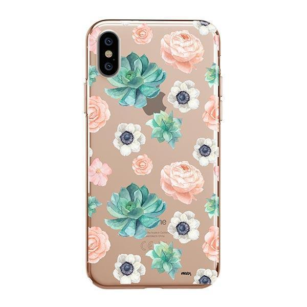 Succulent Overload iPhone XS Max Case Clear