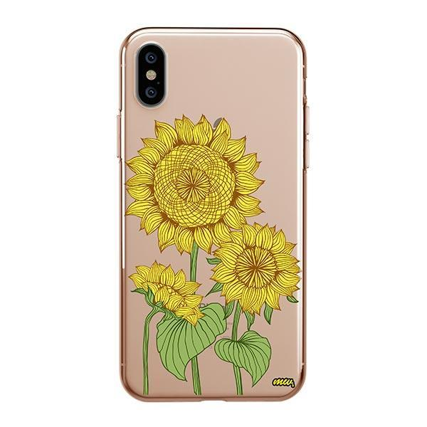 Sunny Sunflower iPhone XS Max Case Clear