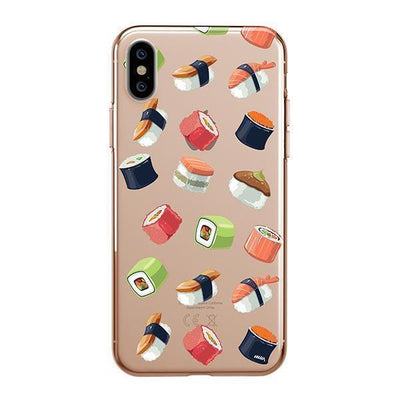 Sushi Lover Clear TPU Case - Clear Cut Silicone iPhone Cover - Milkyway Cases