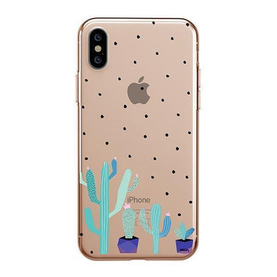 The Pricklies Clear TPU Case - Clear Cut Silicone iPhone Cover - Milkyway Cases