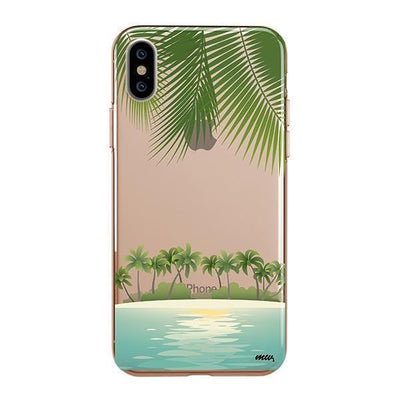 Tropical Beach Clear TPU Case - Clear Cut Silicone iPhone Cover - Milkyway Cases