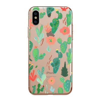 Watercolor Cactus Clear TPU Case - Clear Cut Silicone iPhone Cover - Milkyway Cases