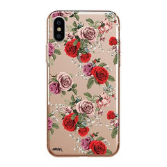 Watercolor Floral Pattern iPhone XS Max Case Clear