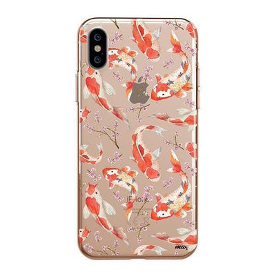 Watercolor Koi Fish Clear TPU Case - Clear Cut Silicone iPhone Cover - Milkyway Cases