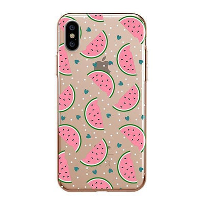 Watermelon Lovin Clear TPU Case - Clear Cut Silicone iPhone Cover - Milkyway Cases