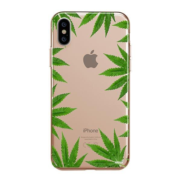 Weed Frame iPhone XS Max Case Clear