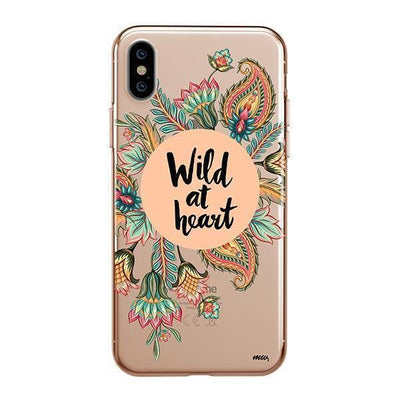 Wild At Heart Clear TPU Case - Clear Cut Silicone iPhone Cover - Milkyway Cases
