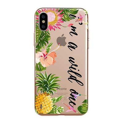 I'm A Wild One Clear TPU Case - Clear Cut Silicone iPhone Cover - Milkyway Cases