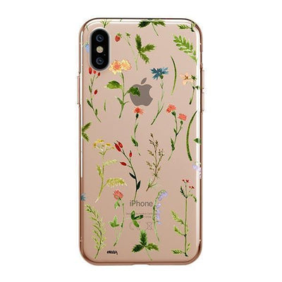 Wildflower Clear TPU Case - Clear Cut Silicone iPhone Cover - Milkyway Cases