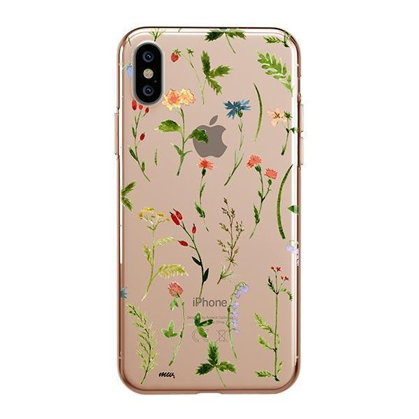 clear floral iphone xs max case