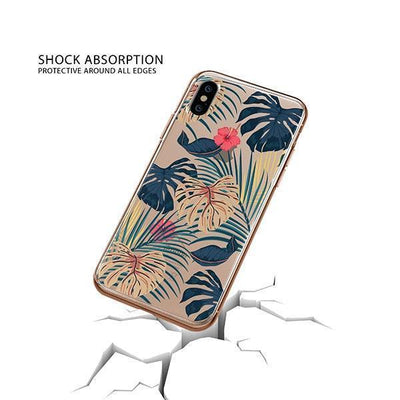 New Day Monstera iPhone XS Case Clear
