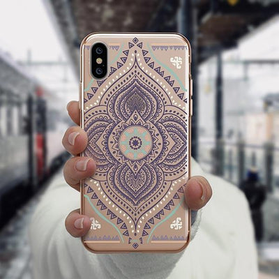 Opulent Mandala iPhone XS Case Clear