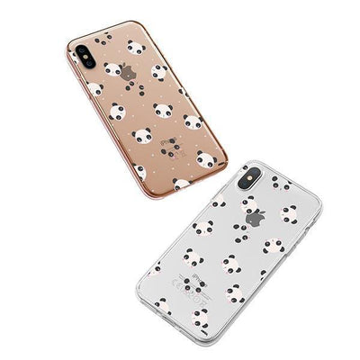 Pandamonium - iPhone XS Case Clear