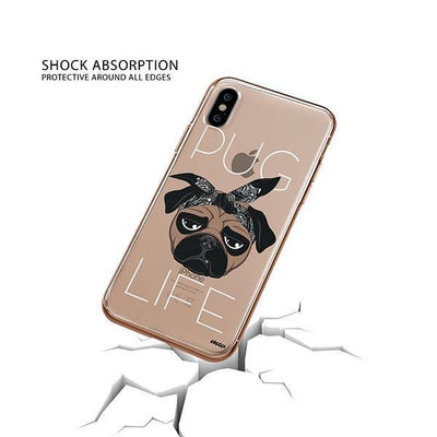 Pug Life - iPhone XS Clear Case