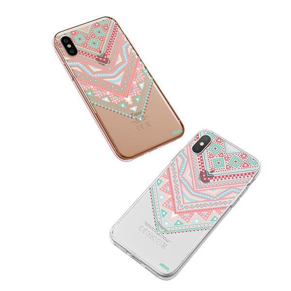 Pastel Aztec Triangle iPhone XS Case Clear