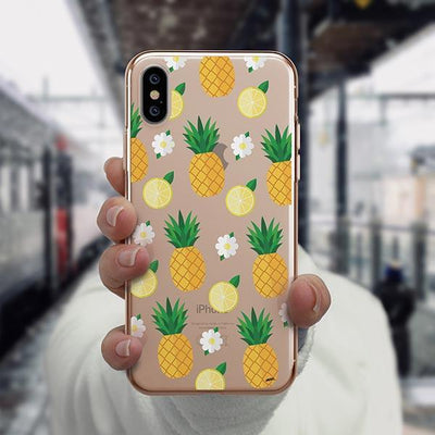 Pineapple Lemon Summer iPhone XS Case Clear