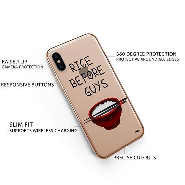 Rice Before Guys iPhone XS Case Clear