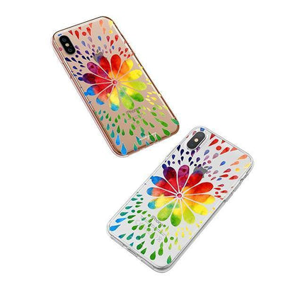 Rainbow Mandala iPhone XS Case Clear