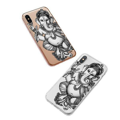 Sketch Ganesh iPhone XS Case Clear