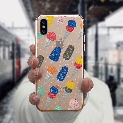 Sprinkles Ice Cream iPhone XS Case Clear