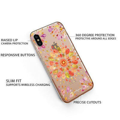 Summer Mandala iPhone XS Case Clear