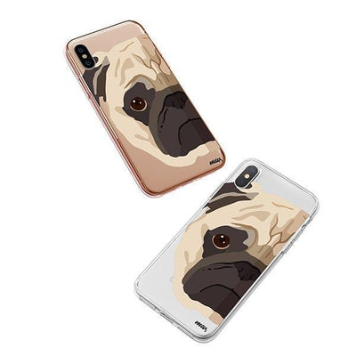 The Pug Case - iPhone XS Clear Case
