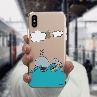 The Whale Case - iPhone XS Case Clear