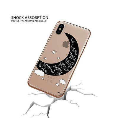To The Moon and Back iPhone XS Case Clear