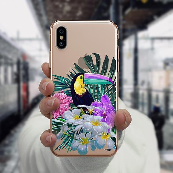 Toucan - iPhone XS Case Clear