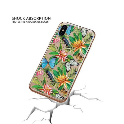 Tropical Butterfly iPhone XS Case Clear