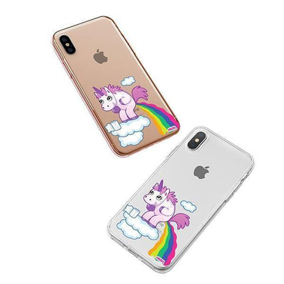 Pooping Unicorn iPhone XS Case Clear