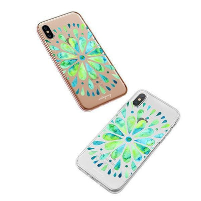 Watercolor Mandala iPhone XS Case Clear