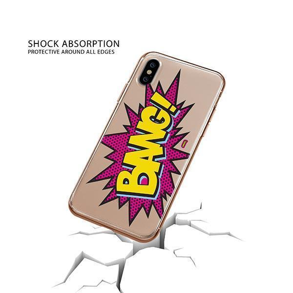 Bang! iPhone XS Case Clear