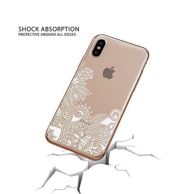Hennan Bottom Floral Paisley iPhone XS Case Clear