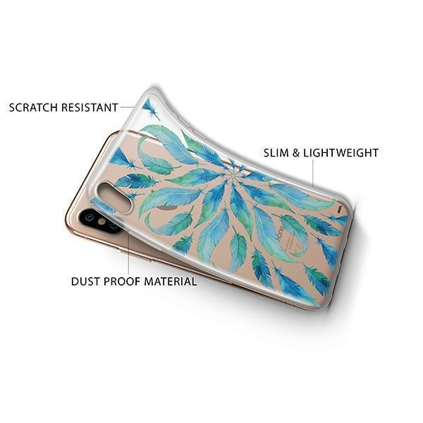 Burst of Feathers iPhone XS Case Clear