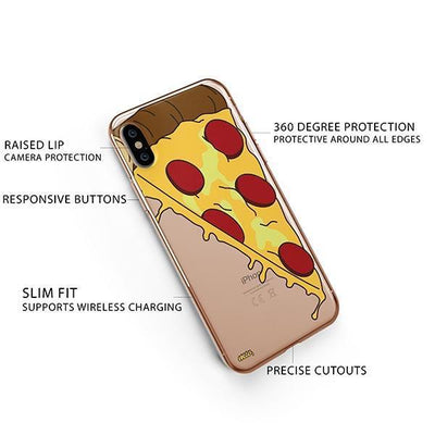 Pizza Slice iPhone XS Case Clear