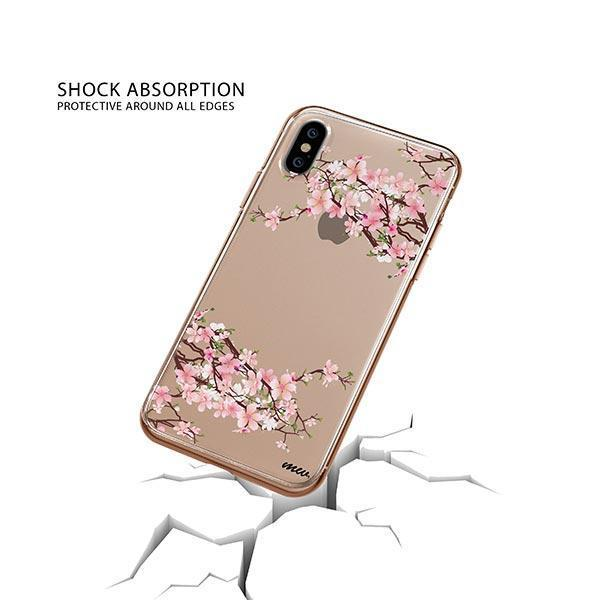 Cherry Blossom iPhone XS Case Clear