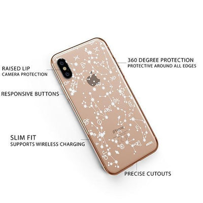 Constellation iPhone XS Case Clear