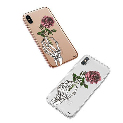 Crane Rose iPhone XS Case Clear