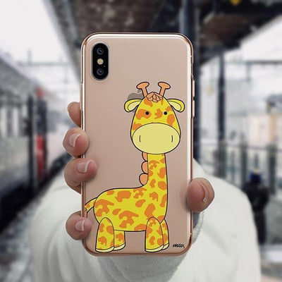 Cute Giraffe - iPhone XS Case Clear