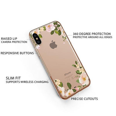 Delight iPhone XS Case Clear