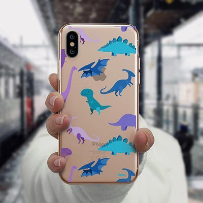 Dino Time iPhone XS Case Clear