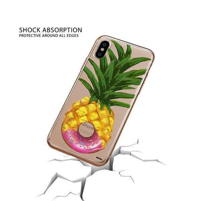 Donut Pineapple iPhone XS Case Clear