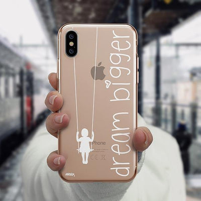 Dream Bigger iPhone XS Case Clear