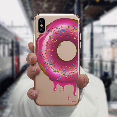 Dripping Donut iPhone XS Case Clear