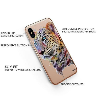 Dripping Leopard - iPhone XS Case Clear