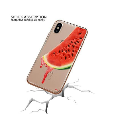 Dropping Watermelon iPhone XS Case Clear