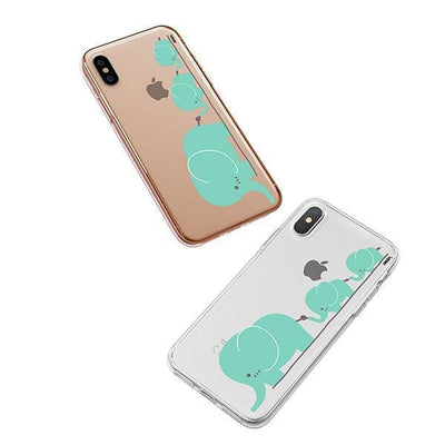 Elephant Family - iPhone XS Case Clear