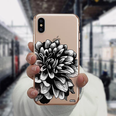 The Black Dahlia iPhone XS Case Clear